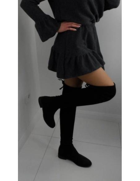 Kozaki damskie za kolano czarne BOOCI