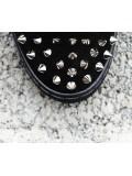 Sneakers czarny srebrne kolce ćwieki