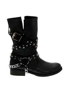 Czarne botki buckle hard rock BOOCI