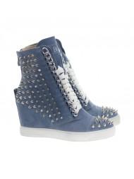 Sneakersy damskie niebieskie hard rock 311/s/zamsz