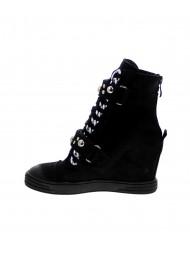 Sneakersy damskie czarne rzepy 254/nubuk