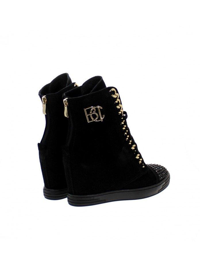 Sneakersy damskie czarne cyrkonie BC 066/z