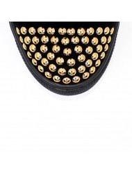 Sneakersy damskie czarne złote cyrkonie BC 066/z