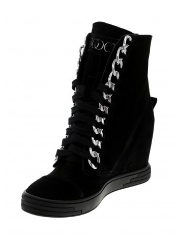 Sneakersy czarne srebrny łańcuch BOOCI
