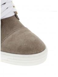 Sneakersy damskie beżowe złoty łańcuch blaszka BOOCI