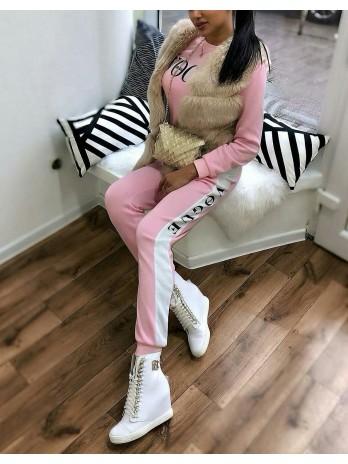 Sneakersy damskie białe lico złote BC 066/z