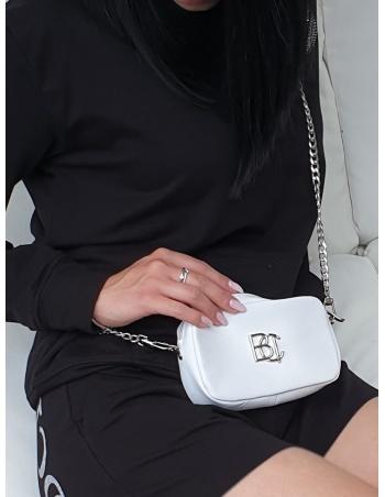 Torebka łańcuszek biała lico srebrne BC BOOCI Torby
