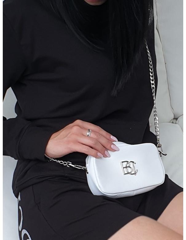 Mała biała torebka ze skóry licowej BOOCI - 1